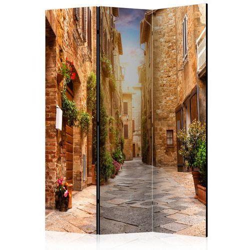 Parawan 3-częściowy - Kolorowa uliczka w Toskanii [Parawan]