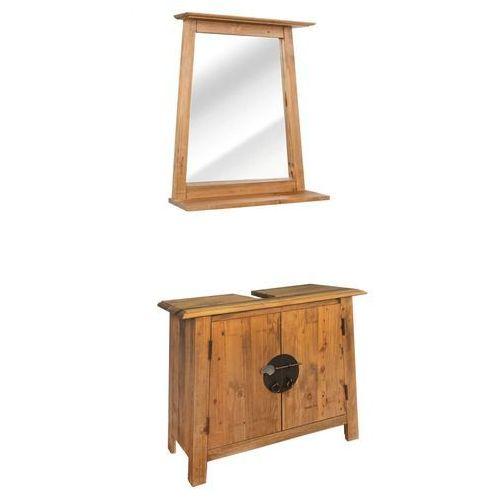 zestaw mebli do łazienki, lite drewno sosnowe z odzysku marki Vidaxl