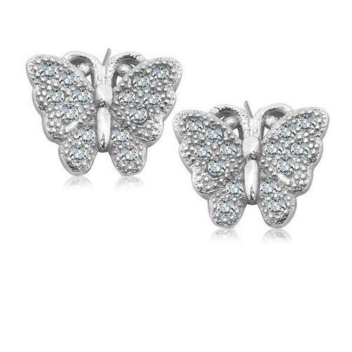 Unique  srebrne kolczyki marki Biżuteria yes