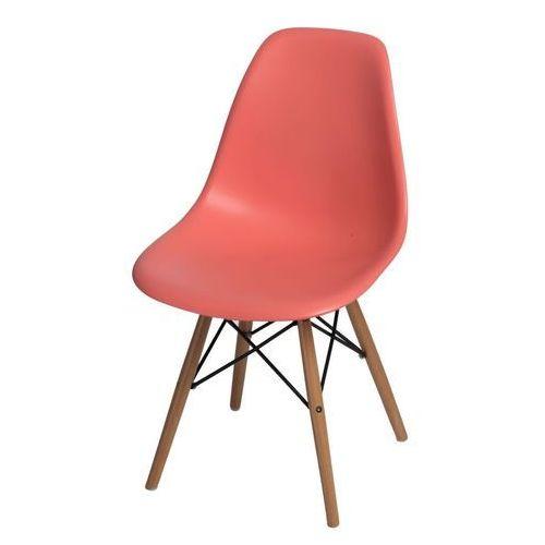 D2design Krzesło p016w pp dark peach, drewniane nogi
