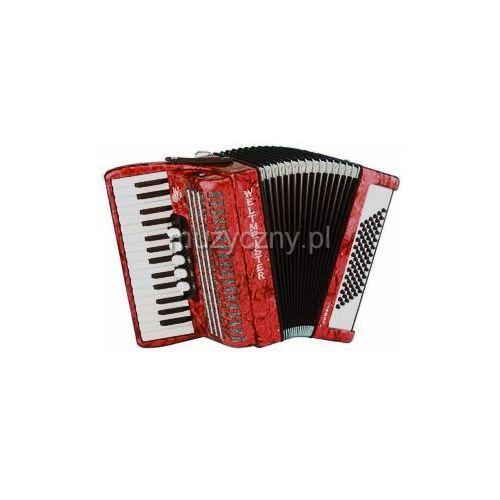 Weltmeister Juwel 30/72/III/5 akordeon (małe klawisze), czerwony