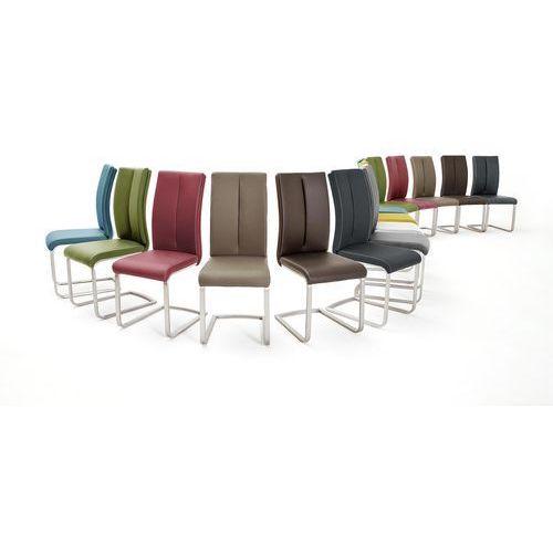 Krzesło PAUL II na płozie, dziewięć kolorów ekoskóry