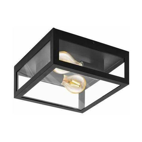 Eglo Amezola 99122 kinkiet lampa ścienna/sufitowa 2x40W E27 czarny/transparentny