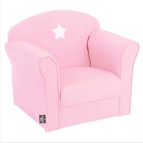 Atmosphera créateur d'intérieur Klasyczny fotel dla dzieci - bawełna, kolor różowy (3560239645757)