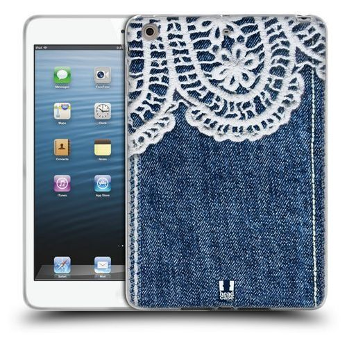 Head case Etui silikonowe na tablet - jeans and laces white lace over blue denim