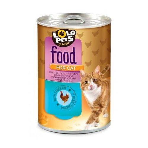Lolo Pets Food for CAT kurczak 410g