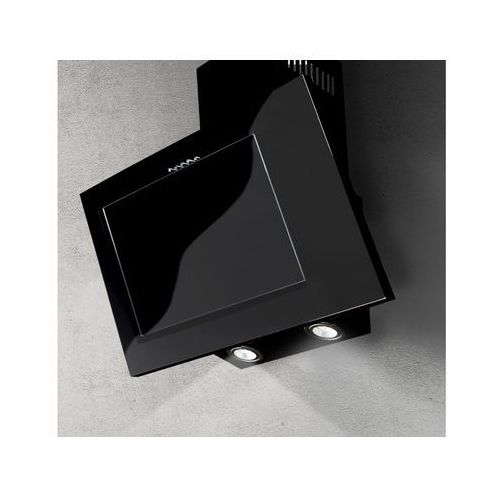 Afrelli Okap naścienny nano czarny 60 cm, 428 m3/h