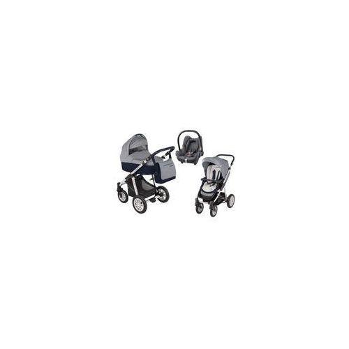 Wózek wielofunkcyjny 3w1 Dotty Baby Design + Cabrio Fix GRATIS (granatowy)