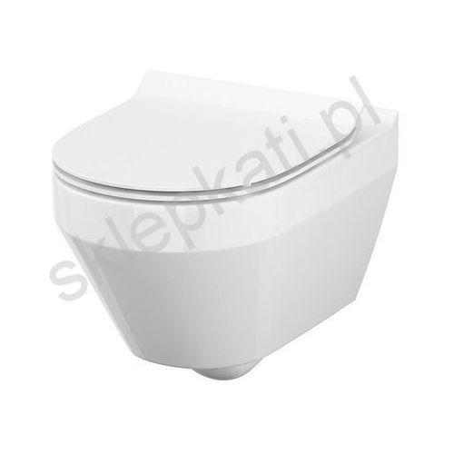 Cersanit miska wisząca crea clean on owalna + deska slim duroplast wolnoopadająca k114-015+k97-0177