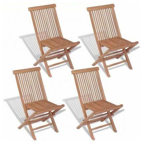 Tekowe krzesła ogrodowe soriano - 4 szt marki Elior