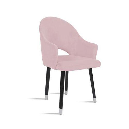Krzesło bari różowy/ noga czarny silver/ tr19 marki B&d