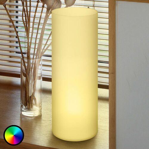 Jak świetlówka, lampa stołowa Elluno-C LED RGBW