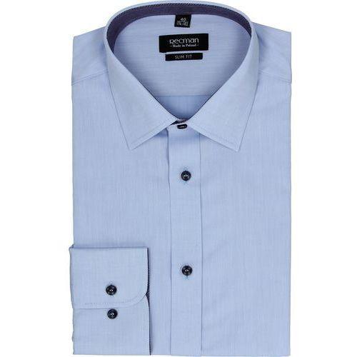 Recman Koszula bexley 2361 długi rękaw slim fit niebieski