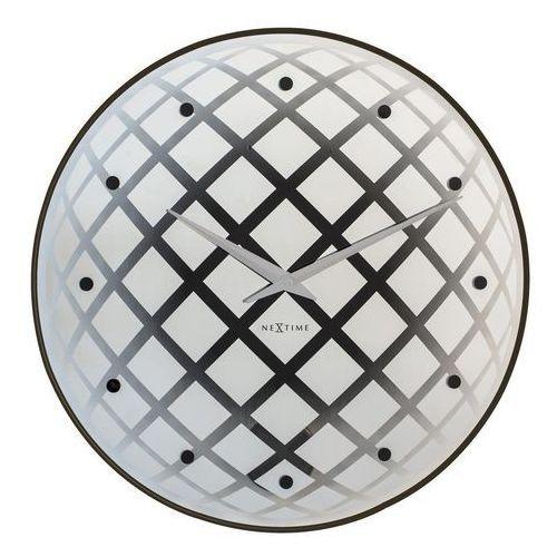 Zegar ścienny Pendula Round srebrny, 8185ZI