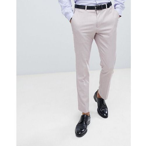 Burton menswear textured suit trousers in pink - pink