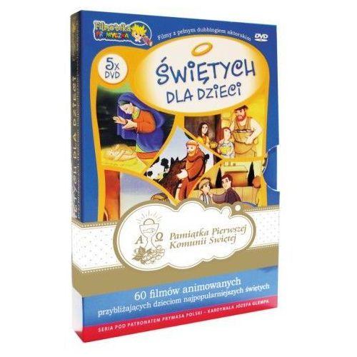 O Świętych dla dzieci album (5 x DVD ). Zestaw komunijny