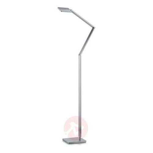 Smukła lampa stojąca led linus, matowy nikiel marki Knapstein