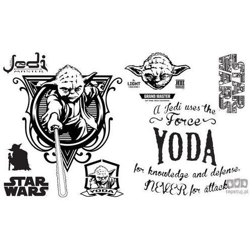 Naklejka STAR WARS Jedi & Joda SPL157TD