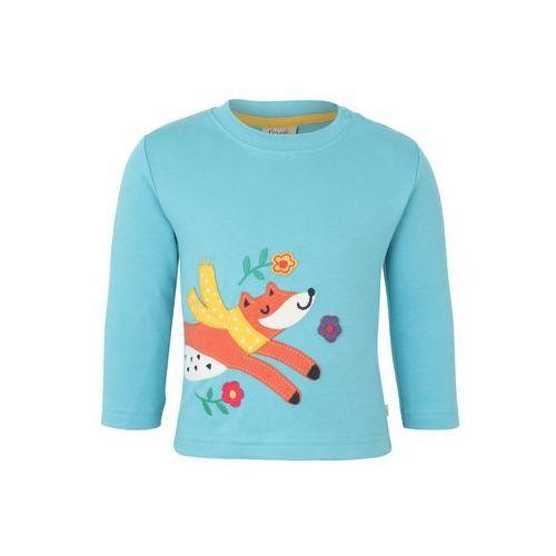 Frugi BABY ZGREEN LITTLE DISCOVERY APPLIQUE TOP Bluzka z długim rękawem aqua/fox (5056049348608)