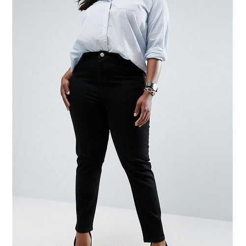 ASOS DESIGN Curve Farleigh slim mom jeans in clean black - Black
