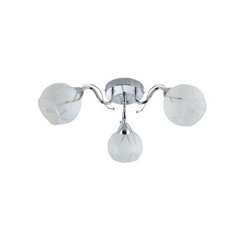 Lampex belen 3 600/3 plafon lampa sufitowa 3x60w e14 biały / srebrny (5902622113913)