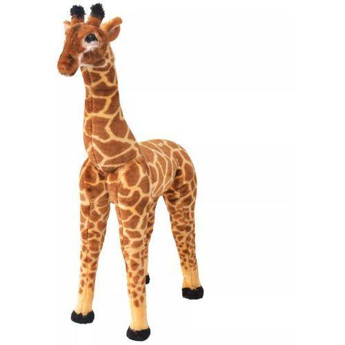 vidaXL Pluszowa żyrafa, stojąca, brązowo-żółta, XXL (8718475565796)