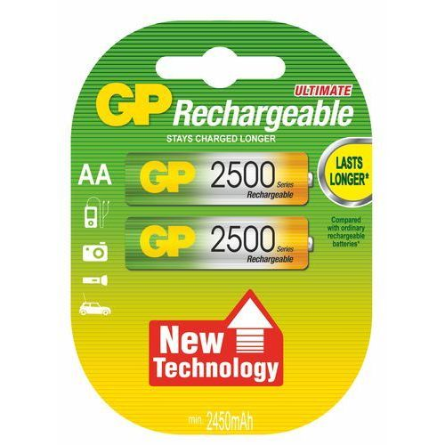 Akumulator GP HR6 2500 mAh 2 szt. - blister (4891199069901)