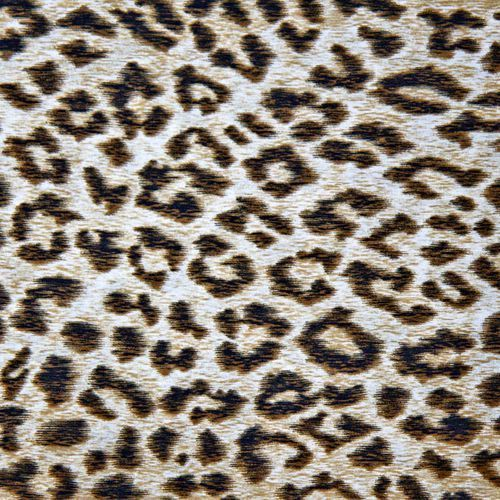 Włoska tkanina bawełniana satynowana - beżowa panterka