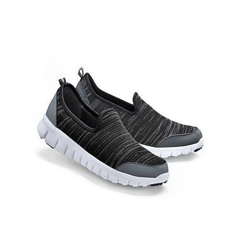 Buty sportowe wsuwane bonprix ciemnoszary, w 7 rozmiarach