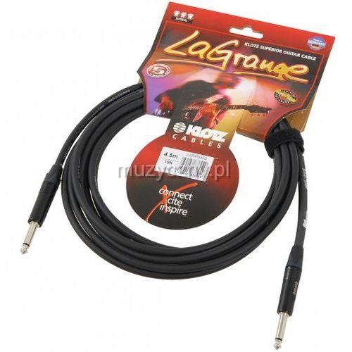 Klotz lapp0450 lagrange kabel gitarowy 4,5m, jack-jack, wtyki neutrik