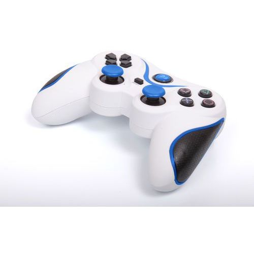 Kontroler 1BANDIT A8 Biało-niebieski (PS3)