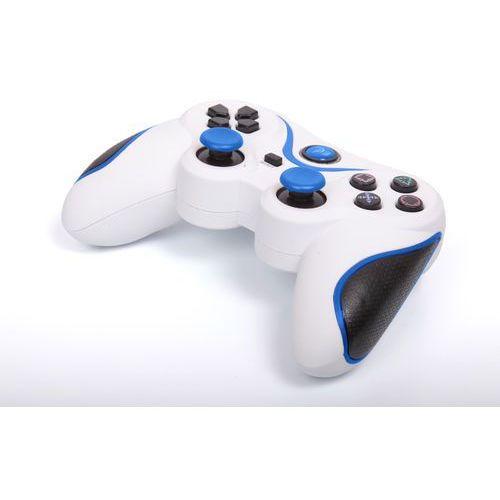Kontroler 1BANDIT A8 Biało-niebieski (PS3/PC)