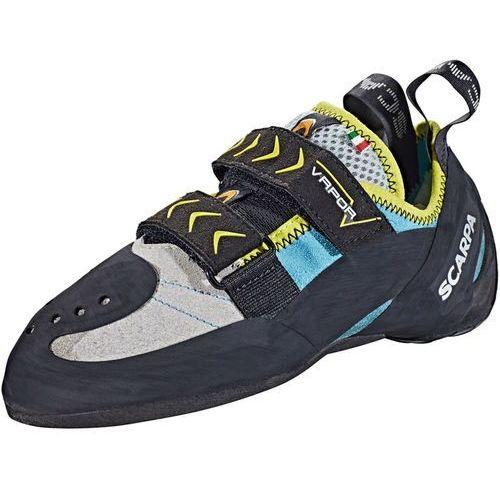 vapor v but wspinaczkowy kobiety czarny/turkusowy 39 2018 buty wspinaczkowe na rzepy marki Scarpa