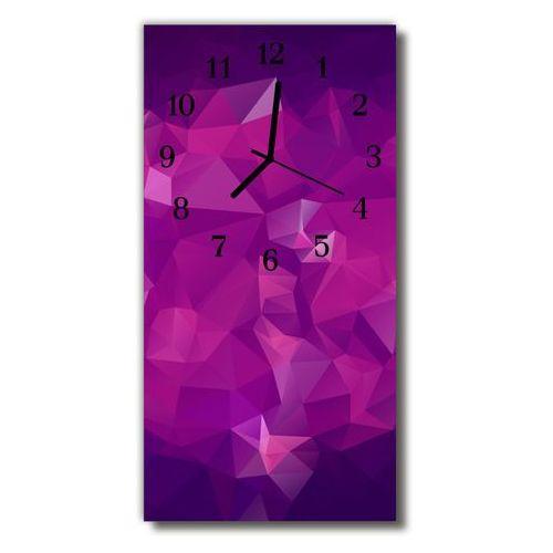 Tulup.pl Zegar szklany pionowy sztuka abstrakcja grafika purpurowy