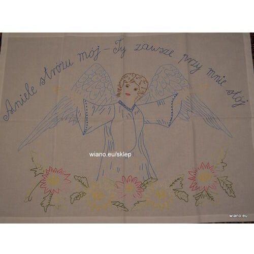 Twórczyni ludowa Makatka wiejska (bawełna) - aniele stróźu mój, ty zawsze przy mnie stój (kś-10)
