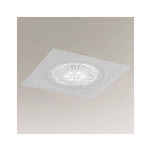 Podtynkowa lampa sufitowa muko h 3355/gu10/bi metalowa oprawa regulowana wpust kwadratowy biały marki Shilo