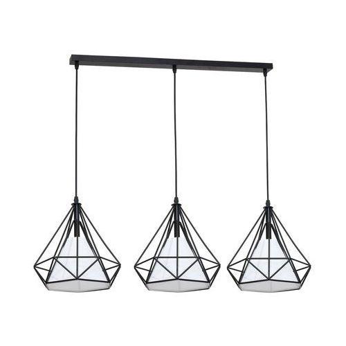 Lampa wisząca Triangolo 3 x 60W E27 IP20 czarno-biała, 162