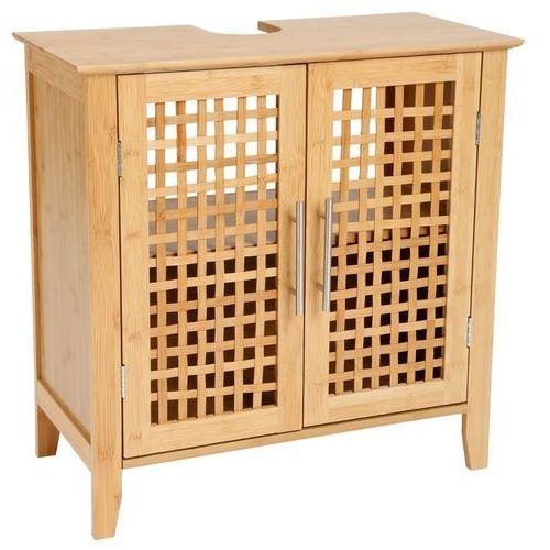 Bambou Bambusowa szafka łazienkowa pod umywalkę - 2 poziomowa, zamykana (3560237242408)