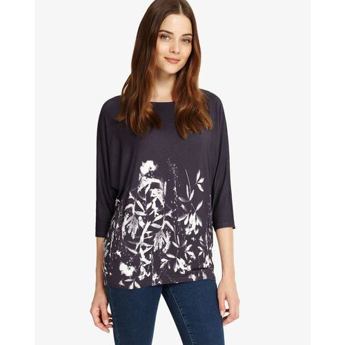 Phase Eight Mira Floral Print Top, kolor szary