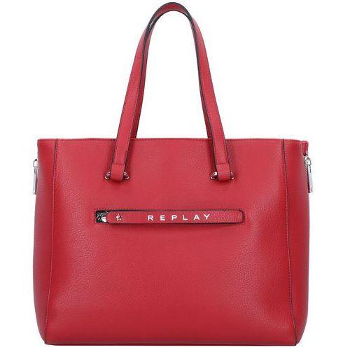REPLAY Torba shopper ognisto-czerwony, kolor czerwony