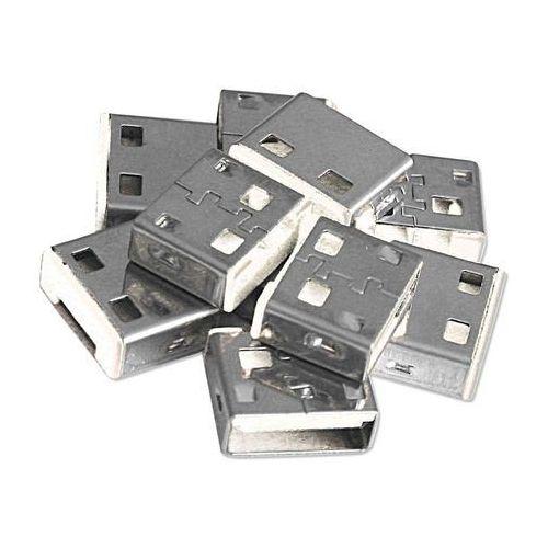 Lindy USB Port Lock (4 sztuki) z kluczem, biały, 40454