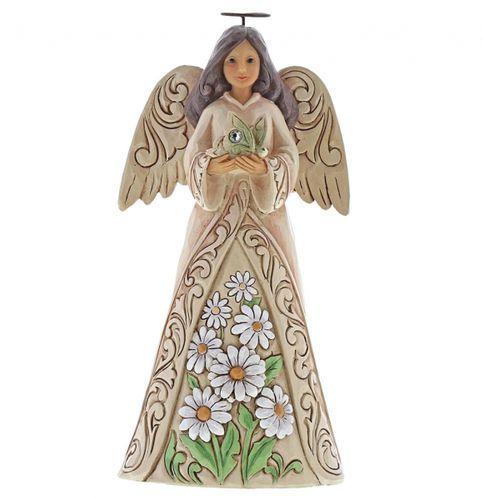 Anioł kwiecień patron urodzonych w kwietniu april angel 6001565 , pamiątka narodzin, chrztu figurka dewocjonalia marki Jim shore