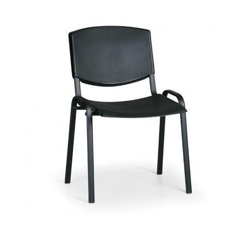 Krzesło konferencyjne Smile, czarny - kolor konstrucji czarny