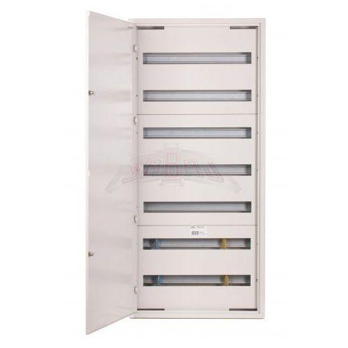 Sabaj-system sp. z o.o. Rozdzielnica modułowa natynkowa 168 modułów ip30 550x1205x132 biała z zamkiem nrpsm 168 7x24 z
