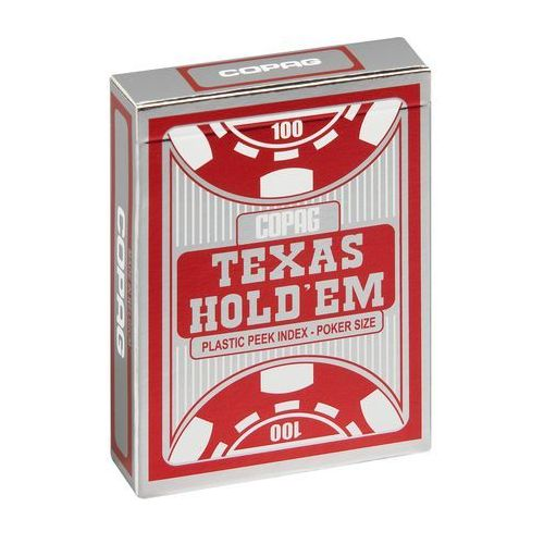 "Cartamundi Karty do texas hold""em poker pc peek silver czerwone (5411068640575)"