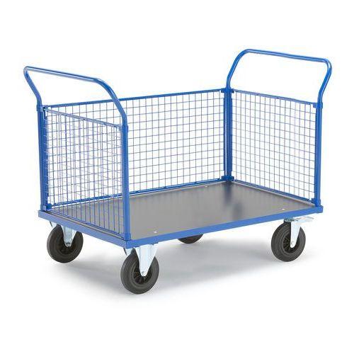 Wózek platformowy, 3 ramy z siatki, 1365x800 mm, z hamulcami marki Aj produkty