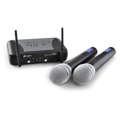 Skytec STWM722 zestaw mikrofonowy UHF bezprzewodowy 2xmik.