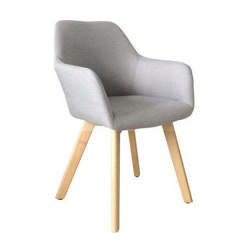 Nowoczesne krzesło tapicerowane z podłokietnikami Monaco light grey, QS-D4062-3-3