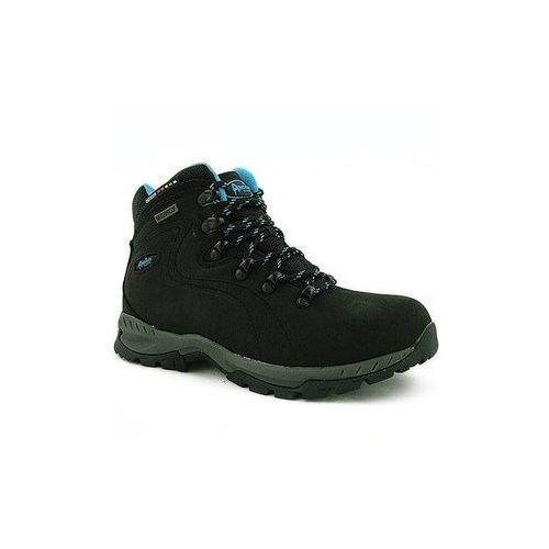 Buty trekkingowe damskie czarne skórzane LOS9012 czarny 37 - produkt z kategorii- Trekking i Nordic walking