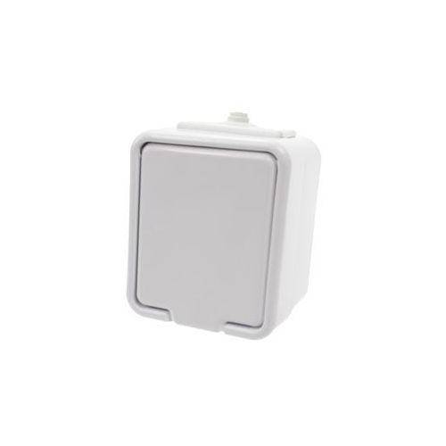 Gniazdo pojedyncze z uziemieniem natynkowe ip44 nt-130c białe cedar  marki Schneider electric